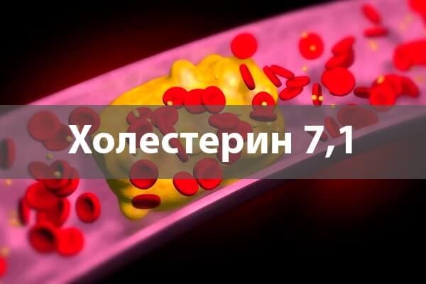 Холестерин 7,1