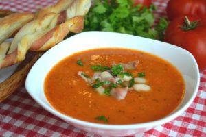Суп-пюре из фасоли и овощей
