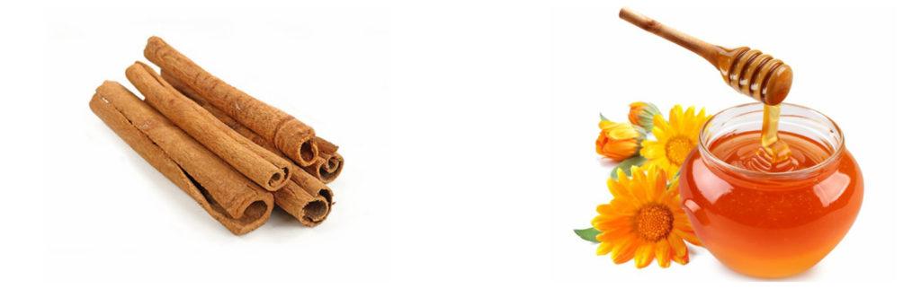Корица - палочками, мед - цветочный