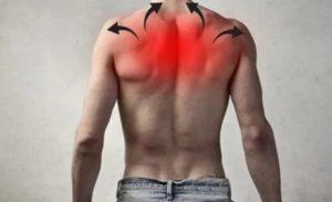 Боль в груди, иррадиирующая в шею, руки, спину