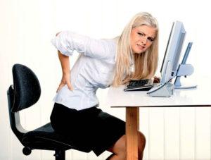 Малоподвижный образ жизни на работе и дома