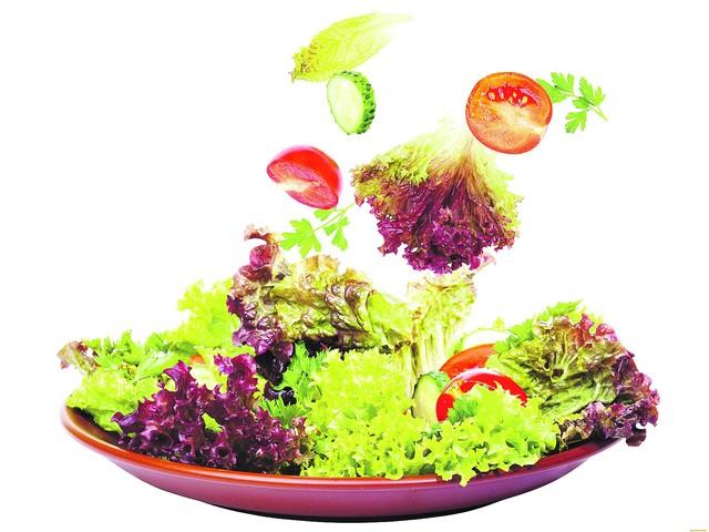 С овощами и зеленью