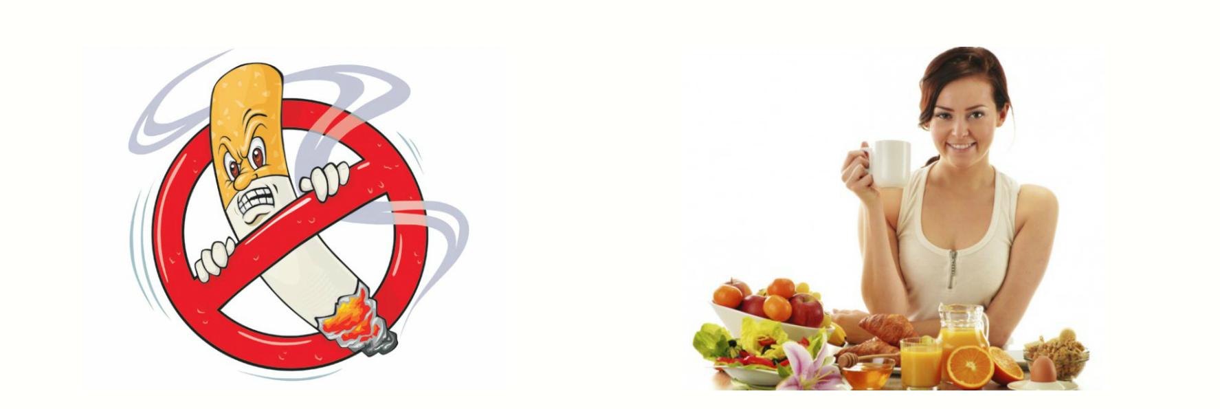 Отказом от вредных привычек и сбалансированная диета