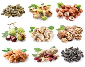 Разные виды орех