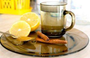 Лимонно-медовый напиток с корицей