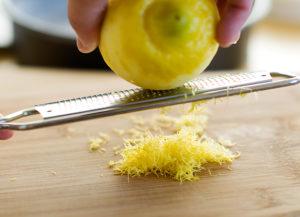 Лимон на терке