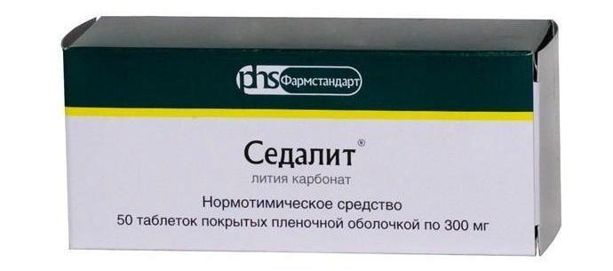 Литийсодержащие препараты
