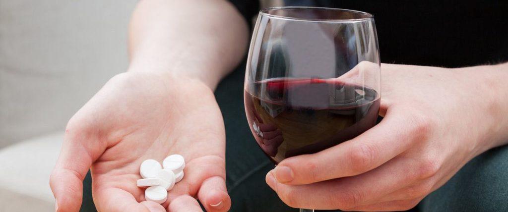 Алкоголь и препарат